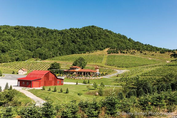 Linville Falls Winery is one of the four wineries along the High Country Wine Trail.