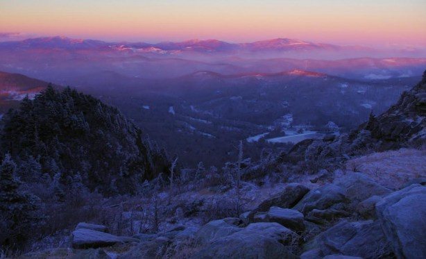 Image captured on Tuesday morning from atop Grandfather Mountain. Photo by Jesse Pope