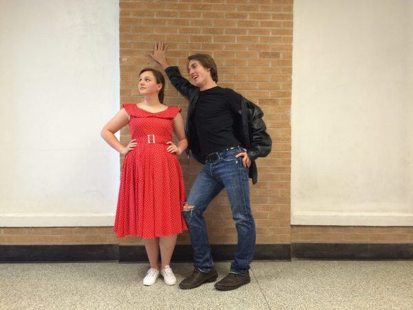 "Emma Shell and Dale Russ. ""Grease"" Spring Musical at Avery High."