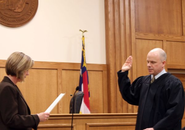 The Honorable Greg Horn from Watauga County was sworn in for his second term as Superior Court Judge.