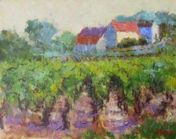 Vineyard Rhythm 16x20 Oil Canvas Helen Farson