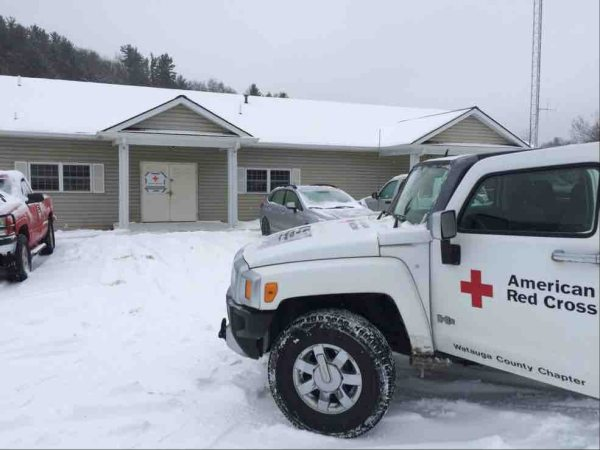 The local Red Cross establishes an emergency shelter in Deep Gap during one of last year's snow storms.