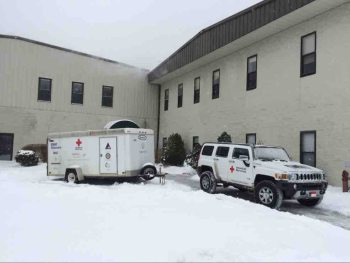 The local Red Cross establishes an emergency shelter at Alliance Bible Fellowship in Boone during one of last year's snow storms.