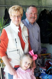 Tina and Tom Barrett with their granddaughter Jane.