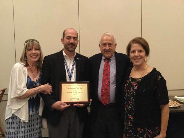 From left: Debi Linzey, 2016 NCVMA Vet of the Year David Linzey, Donald Linzey and Nita Linzey.