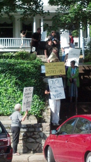 """Moral Monday"" in Boone last week. Photos submitted."