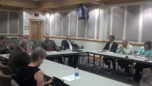 The Economic Development Commission and the Watauga County Board of Commissioners met last Tuesday. Photo by Jesse Wood