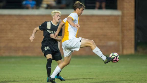 Appalachian State University men's soccer drawed No. 5 Charlotte on Tuesday evening 1-1 as Stephen Chapman scored the tying goal in the 61st minute. Courtesy: Brian Westerholt (Appalachian State Athletics)