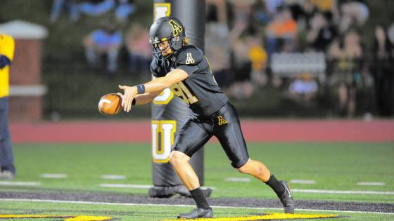 Bentlee Critcher averaged 47.9 yards per punt in his Kidd Brewer Stadium debut on Saturday. Photo by Keith Cline/Courtesy of App State Athletics