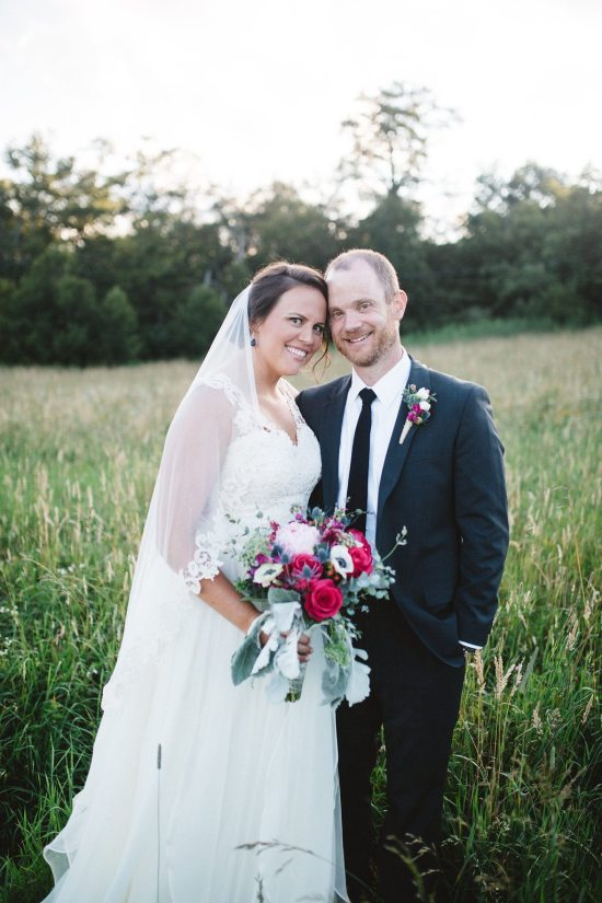 Katie and David's wedding at Overlook Barn. Michelle Lyerly Photography.