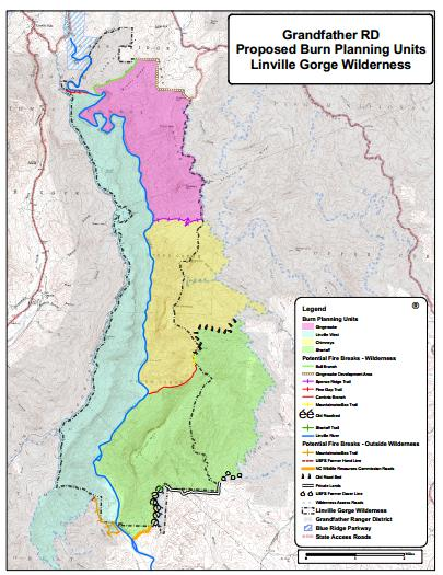 Linville Map Burn