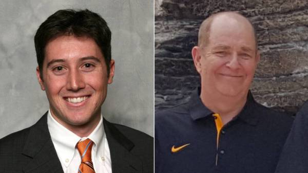 Adam Witten (left) and Randy Jackson (right) are the new play-by-play voices for Appalachian State football and men's basketball, respectively. Courtesy: Appalachian State Athletics