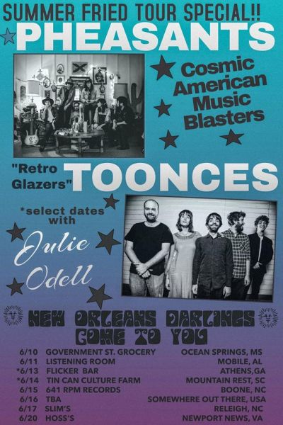 Pheasants and Toonces Tour Poster