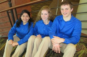 ProStart champions Connie Alcaraz,  Anna Jensen, and Eli Hawley. Photo submitted