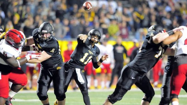 Taylor Lamb matched a career high with four touchdown passes in Thursday's 40-27 loss to Arkansas State. Courtesy: Keith Cline / App State Athletics