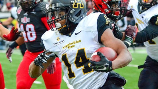 All-Sun Belt Conference running back Marcus Cox and the Mountaineers will play at Clemson on Sept. 12 on ESPN3. Photo courtesy: App State Athletics / Allyson Lamb