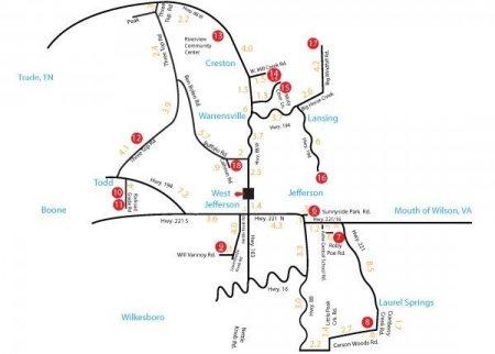 Rev4 Tour Map