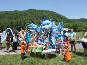 Elkland Arts Center float for parade.