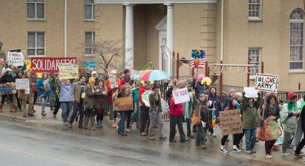 Anti Trump Protest March in Boone, NC