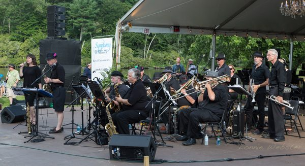 Symphony by the Lake at Chetola with Symphony of the Mountains from Kingsport, TN. Cornelia Laemmli Orth is the Symphony Conductor. Photo by Lonnie Webster.