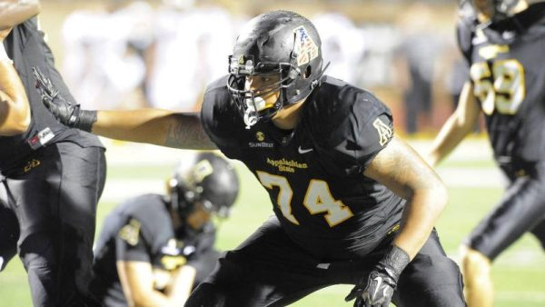 Kendall Lamm started 42 games at left tackle during his Appalachian State career, including all 24 over the past two seasons.Courtesy App State Sports / Keith Cline