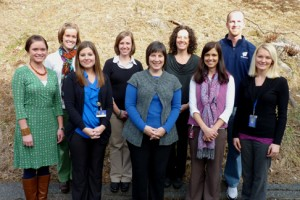 The 2013-14 Teachers of the Year of the Watauga County Schools include (from left) Meghan Mixon, Jenny McCourry, Jamie Dale, Gina Holste, Donna Greene, Susan Trew, Tiffany Reece, Klay Anderson, and Lindsey Wilson. Photo submitted