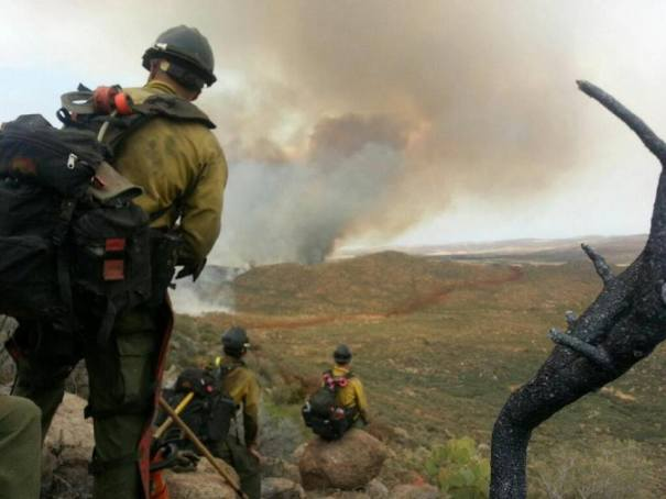 The final photo Arizona firefighter Andrew Ashcraft  of the Granite Mountain Hotshots texted his wife before dying in the Yarnell Hill fire. Photo courtesy of Granite Mountain Hotshots Facebook page.