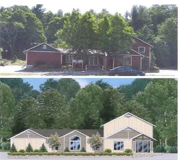 Here's a view of the what the property has looked like in the past and what is proposed.