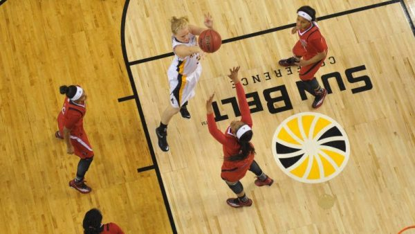 Ashley Bassett-Smith recorded seven points, four rebounds and four blocks in the win over UL Lafayette on Monday. Courtesy: Dave Mayo / App State Sports