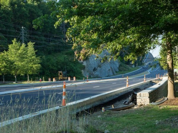 The look of the U.S. 421 widening project in Blowing Rock during Fourth of July weekend. Photo by Lonnie Webster