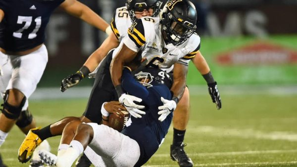 Apps' defense held GS to 159 total yards of offense, the fewest ever at home. Courtesy: Appalachian State Athletics
