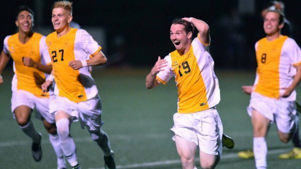 Appalachian State University men's soccer won its home opener against USC Upstate, giving Jason O'Keefe his first win as head coach and freshman Graham Smalley his first career goal and game-winner. Courtesy: Tim Cowie / App State Athletics