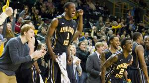 Appalachian State men's basketball enters the 2013 SoCon Tournament as the No. 4 seed after finishing second in the North Division. Photo by Tyler Buckwell and courtesy of Appalachian Sports Information