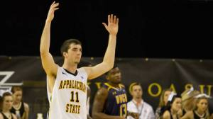 Nathan Healy matched a career high with 24 points in Monday's 83-70 victory over UNCG. Photo by Tyler Buckwell and courtesy of Appalachian Sports Information