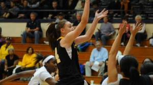 Maryah Sydnor led the Mountaineers with 23 points and 14 rebounds against Wofford. Photo courtesy of Appalachian Sports Information