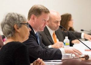 The State Board of Elections hears from the local board members in September. Photo by Lonnie Webster