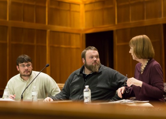 Aceto, Eggers and Campbell at February's meeting. Photo by Lonnie Webster