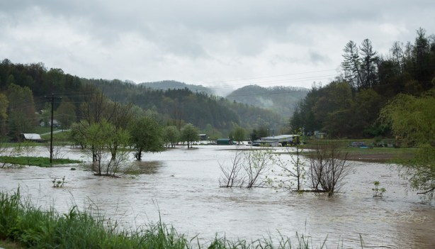 Flooding in Watauga River Valley - Photo by Lonnie Webster