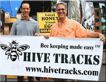 Dr. James Wilkes (pictured left), the  creator of Hive Tracks. Images from Bee Culture Magazine.