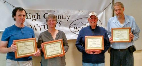 HCW Book of the Year Award Winners. Pictured (from left) are: Tony Rankine, Danielle Bussone, Bill Runyon, Doug Kaiser. Not pictured: Peter Morris, Leslie Ann Perry. Photo by Ree Strawsman.