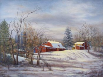 """Mary Martha McKinley, """"Winter Thaw at Mary's Land"""" 30x40"""