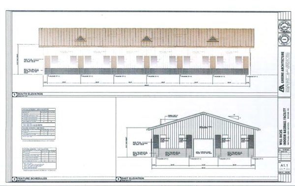 Engineering plans of the proposed facility.