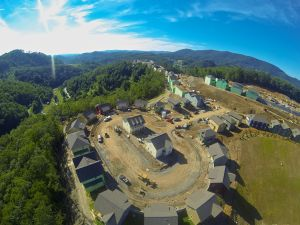 This is how the development looked at the end of July. Photo by Jordan Nelson