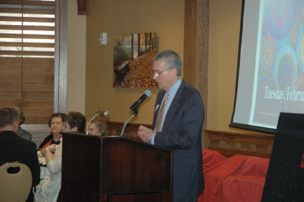 Charles Hardin, Executive Director of the Blowing Rock Chamber of Commerce sets the ceremony in motion