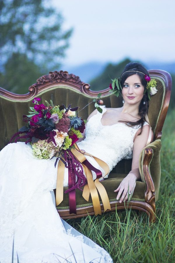 Calah Stephens Photography for High South Weddings.Fuschia Moss Floral Design.