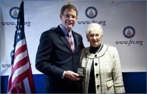 FRC Action President Tony Perkins and Congresswoman Virginia Foxx