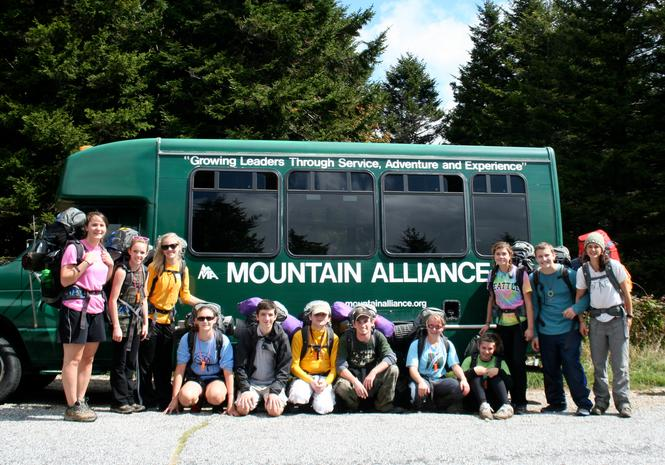 Group photo after backpacking trip in South Pisgah.