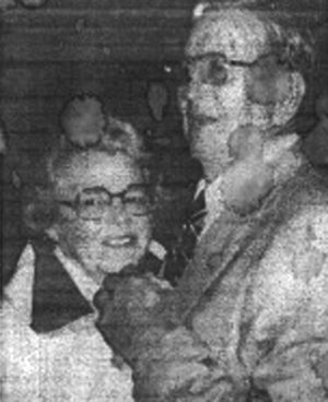 Mary and William Elder dancing at their 45th anniversary. Photo provided by the Elder family.