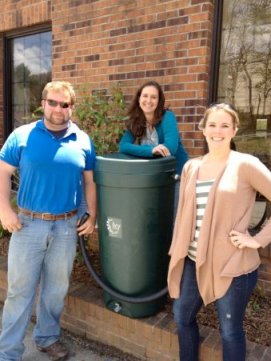 From left: Brian Chatham of Watauga County Soil and Water; Wendy Patoprsty with the Watauga County Cooperative Extension; and Lane Weiss, Town of Boone Water Conservation Program Coordinator