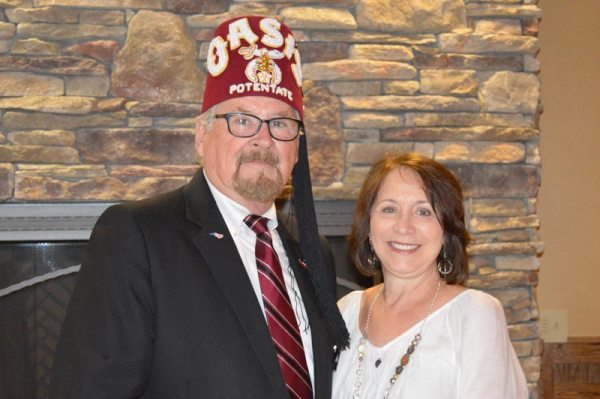 Oasis Shriner Potentate Johnny King and wife Theresa